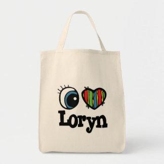 I Heart (Love) Loryn Grocery Tote Bag