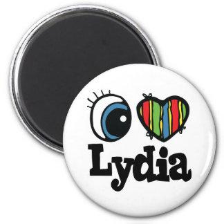I Heart (Love) Lydia 6 Cm Round Magnet