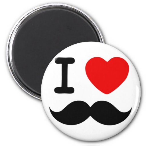 I heart / Love Moustaches / Mustaches Magnets