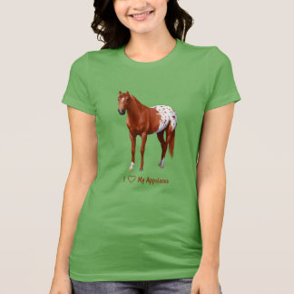 I Heart (Love) My Chestnut Appaloosa Horse T-Shirt