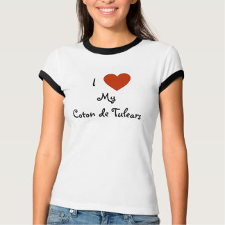 I Heart (Love) My Coton de Tulears Shirt