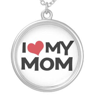I Heart (love) My Mom Necklace