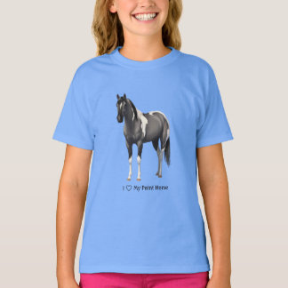 I Heart (Love) MY Paint Horse Grulla Pinto T-Shirt