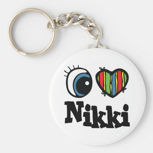 I Heart (Love) Nikki Key Chains