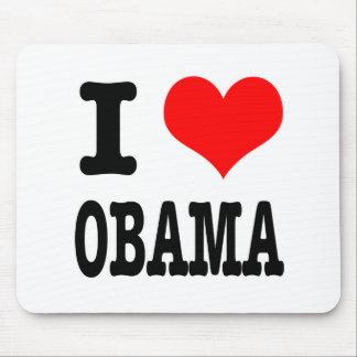 I HEART (LOVE) OBAMA MOUSE PAD