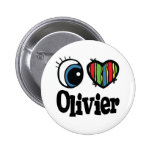 I Heart (Love) Olivier 6 Cm Round Badge