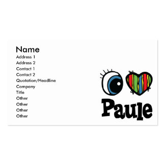 I Heart (Love) Paule Pack Of Standard Business Cards