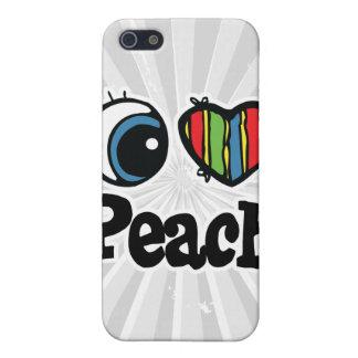 I Heart (Love) Peach iPhone 5/5S Case