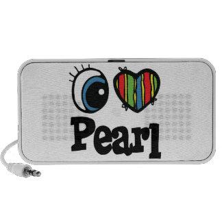 I Heart (Love) Pearl Laptop Speakers