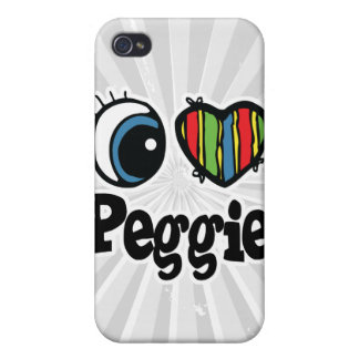I Heart (Love) Peggie iPhone 4/4S Covers