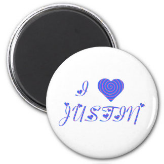 i heart/love [ personalizable ] 80's retro rainbow 6 cm round magnet