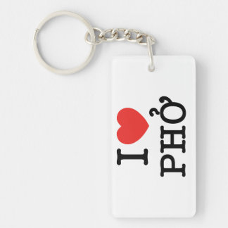 I Heart (Love) Pho Key Ring
