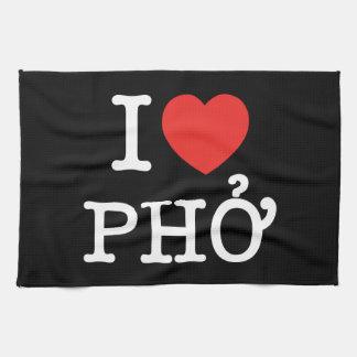 I Heart (Love) Pho Kitchen Towel