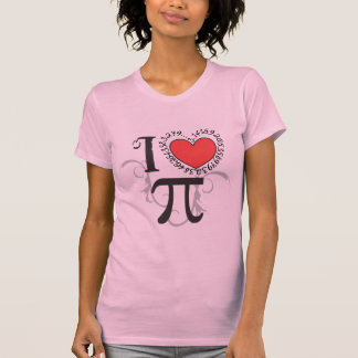 I Heart (LoVe) Pi TShirts - Pi Day