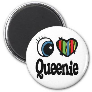 I Heart (Love) Queenie 6 Cm Round Magnet