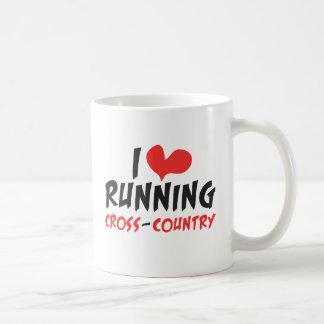 I heart (love) Running Cross Country Coffee Mug