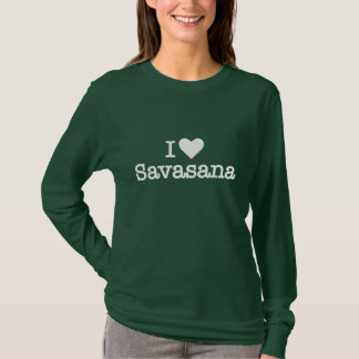 I heart love savasana yoga meditation corpse pose T-Shirt