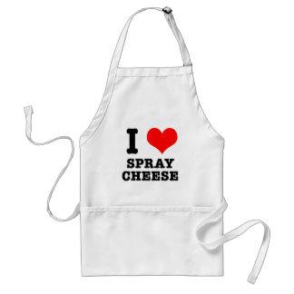 I HEART (LOVE) spray cheese Standard Apron