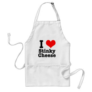 I HEART LOVE stinky cheese Aprons