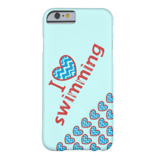 I heart (love) Swimming Barely There iPhone 6 Case