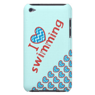 I heart (love) Swimming Barely There iPod Covers