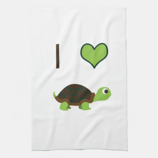 I heart (love) Turtles Tea Towel