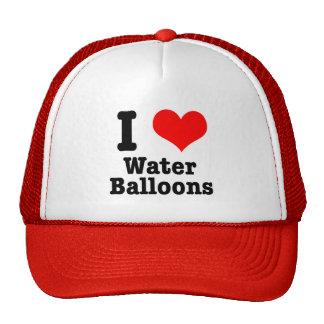 I HEART (LOVE) water balloons Cap