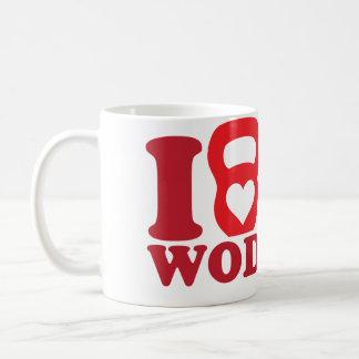I Heart (Love) WOD - CrossFit Coffee Mugs