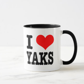 I HEART (LOVE) YAKS MUG