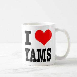 I HEART (LOVE) YAMS BASIC WHITE MUG