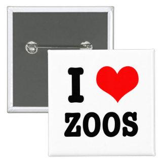 I HEART (LOVE) zoos 15 Cm Square Badge