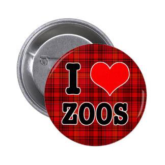 I HEART (LOVE) zoos 6 Cm Round Badge