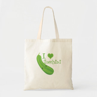 I Heart (love) Zucchini Tote Bag