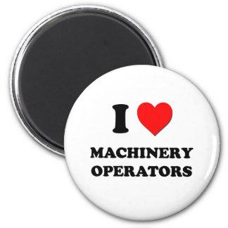 I Heart Machinery Operators Fridge Magnets
