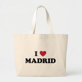 I Heart Madrid Spain Jumbo Tote Bag