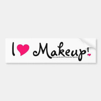 I heart makeup! bumper sticker