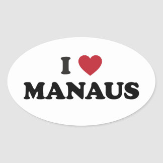 I Heart Manaus Brazil Oval Sticker