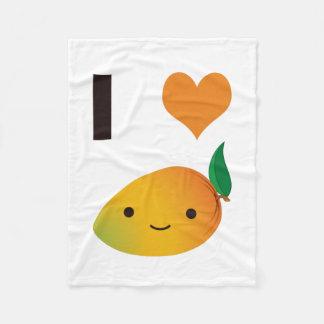 I heart Mango Fleece Blanket