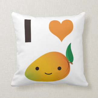 I Heart Mango Throw Pillow