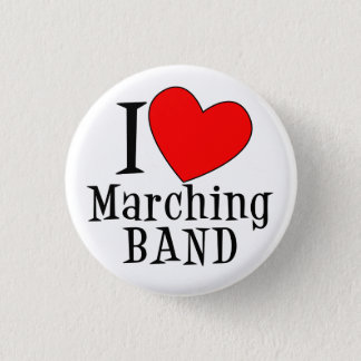 I heart Marching BAND 3 Cm Round Badge