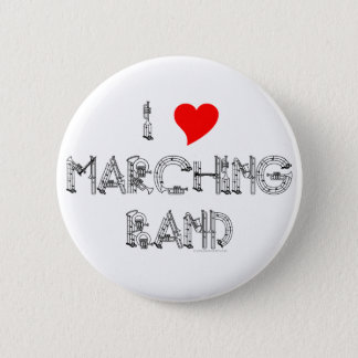 I Heart Marching Band 6 Cm Round Badge