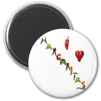 I Heart Margaritas 6 Cm Round Magnet