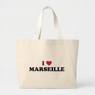 I Heart Marseille France Jumbo Tote Bag