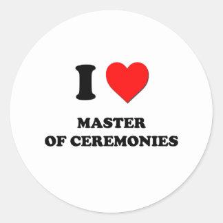 I Heart Master Of Ceremonies Round Stickers