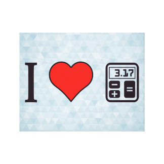 I Heart Mathematics Gallery Wrapped Canvas