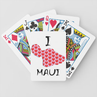 I heart Maui Bicycle Playing Cards