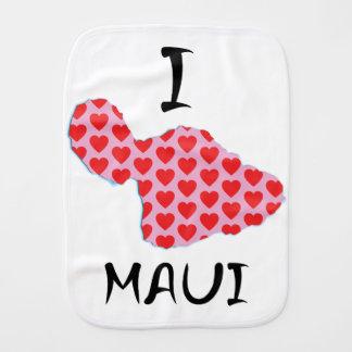 I heart Maui Burp Cloth