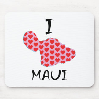 I heart Maui Mouse Pad