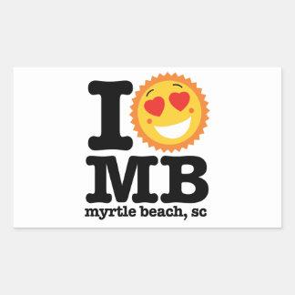 I (Heart) MB Rectangular Sticker