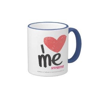 I Heart Me Pink Ringer Mug